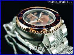 Invicta Mens 52mm XL GRAND Pro Diver Chronograph Black Dial Rose Tone SS Watch