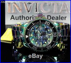 Invicta Mens 54mm Grand Diver Automatic Abalone Dial Iridescent Stainless Steel