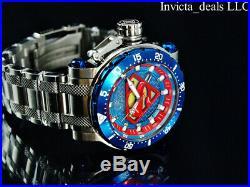 Invicta Mens 62mm DC Comics SUPERMAN Automatic Limited Edition SS Bracelet Watch