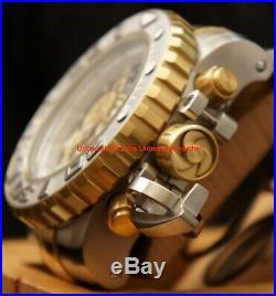 Invicta Mens 70MM Sea Hunter Gen II Blk Dial Swiss Chron 2Tone SS Bracelet Watch