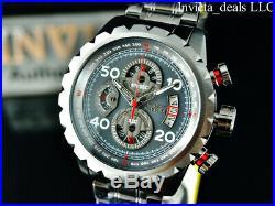 Invicta Mens Aviator Bolt FLIGHT Chronograph Gunmetal Tone Stainless Steel Watch