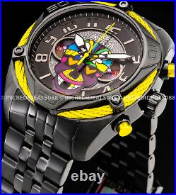 Invicta Mens BRITTO BOLT Chronograph Ltd Ed Black Dial Bracelet SS 47mm Watch