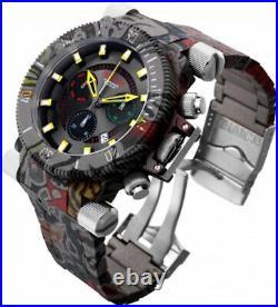 Invicta Mens Coalition Force Aqua Hydroplated Graffiti MultiColor Bracelet Watch
