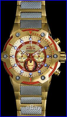 Invicta Mens Marvel IRON MAN Limited Edition Chronograph Gunmetal Bracelet Watch