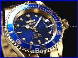 Invicta Mens Original Coin Edge Pro Diver Automatic Exhibition NH35A 18KSS Watch