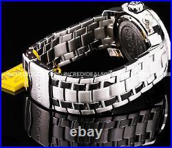 Invicta Mens PRO DIVER SCUBA CHRONOGRAPH Silver Dial Bracelet 48mm SS Watch