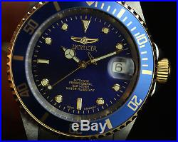 Invicta Mens Pro Diver Collection Swiss Made Automatic Coin Edged 23K GP Watch