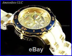 Invicta Mens Pro Diver Scuba 18k Gold Plated Stainless Steel Champagne Dial Watc