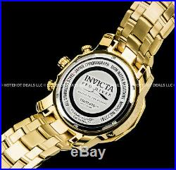 Invicta Mens Pro Diver Scuba 3.0 Chronograph 18K Gold Plated SS Tachymeter Watch