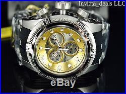 Invicta Mens Reserve 52mm Bolt Zeus SWISS MADE ETA Chrono Gold/Silver Dial Watch
