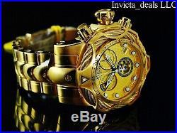 Invicta Mens Reserve 52mm Venom Bolt Swiss ETA Chronograph 18K Gold Plated Watch