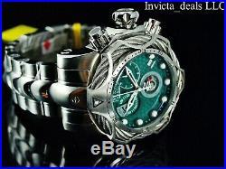Invicta Mens Reserve 52mm Venom Bolt Swiss ETA Chronograph Green Dial SS Watch