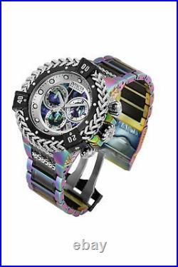 Invicta Mens Reserve Bolt Hercules 53MM Abalone Dial Iridescent Bracelet Watch