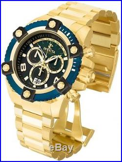 Invicta Mens Reserve Grand Arsenal Swiss Made Chronograph Gold Plated Watch NEW