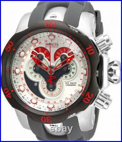 Invicta Mens Reserve Venom 52mm Swiss Master Calendar White Dial Strap Watch