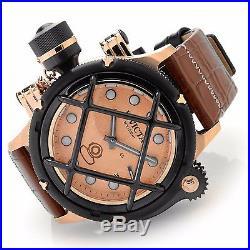Invicta Mens Rose Gold Tone Nautilus Swiss Made ETA 6497 Mechanical Watch