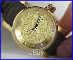 Invicta Mens S1 Gold Yakuza Dragon Dial Japanese NH35A 24 Jewels Automatic Watch