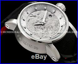 Invicta Mens S1 Rally Dragon Automatic Silver Dial Black/Red Strap SS Watch