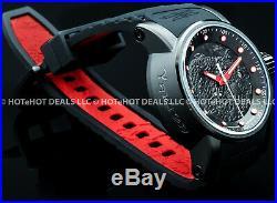 Invicta Mens S1 Yakuza Dragon NH35A Automatic 24J Black n Red SS IP Strap Watch