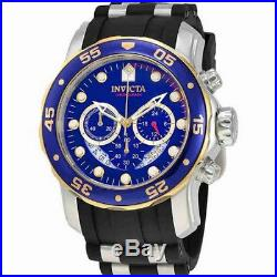 Invicta Pro Diver 22971 Men's Blue Round Analog Chronograph Date Silicone Watch