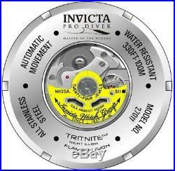 Invicta Pro Diver 27014 Men's 52mm Silver-Tone Automatic Watch with Silver Dial