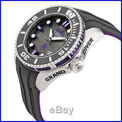 Invicta Pro Diver Automatic Black Dial Black and Purple Silicone Mens Watch