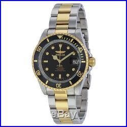 Invicta Pro Diver Automatic Black Dial Two-tone Mens Watch 8927OB