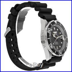 Invicta Pro Diver Automatic Steel Black Rubber Mens Watch 9110