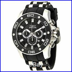 Invicta Pro Diver Chronograph Black Dial Mens Polyurethane and SS Watch 26084