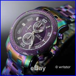 Invicta Pro Diver Scuba Rainbow Iridescent Purple Dl Chrono 48mm Mens Watch Rare
