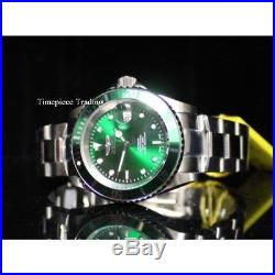 Invicta Pro Diver Swiss Sellita SW200 Automatic Green Dial SS Men's Watch