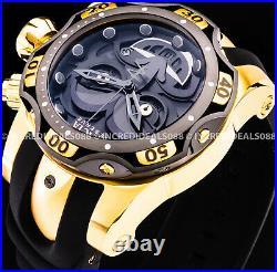 Invicta RESERVE JOKER CHRONOGRAPH Ltd Ed 18K Gold Black Dial Strap Men SS Watch