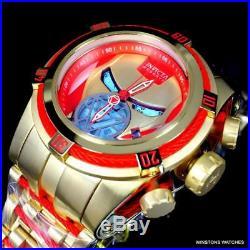 Invicta Reserve Bolt Zeus Marvel Iron Man 52mm Steel Swiss Mvt Blue Watch New