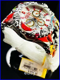 Invicta Reserve Men 50mm CHAOS GRAFFITI Swiss Chrono Aqua Hydro Plated SS Watch