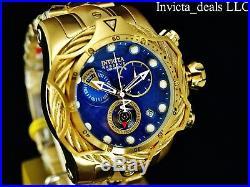 Invicta Reserve Mens 52mm Venom Bolt Swiss ETA Chronograph 18K Gold Plated Watch