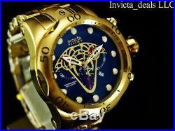 Invicta Reserve Mens 52mm Venom VIPER Swiss Chronograph 18K Gold Plated SS Watch