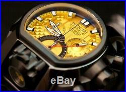 Invicta Reserve Mens Bolt Zeus Magnum 52mm Yellow Dial Swiss Strap Watch