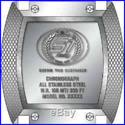 Invicta S1 Rally 15789 Men's Black/Silver-Tone Genuine Leather Chronograph Watch