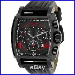 Invicta S1 Rally 27947 Men's Analog Black Chronograph Date Tonneau Leather Watch