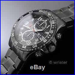 Invicta Specialty Chronograph Gunmetal Ion-Plated SS Grey Black NEW Mens Watch