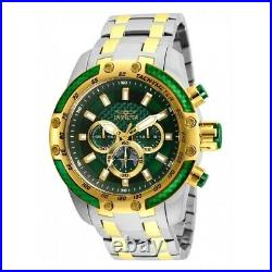 Invicta Speedway 50mm Chronograph Green Dial Men's Stainless Steel Watch 25948
