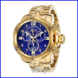 Invicta Venom Chronograph Blue Dial Gold-plated Stainless Steel Mens Watch 17635