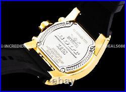 Invicta ZEUS BOLT MAGNUM Chronograph 18K Gold Gunmetal Dial Black Men SS Watch