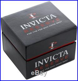 Men's Invicta 21367 Bolt Reserve Swiss Chronograph Black Dial Silicone Watch
