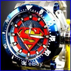 Men's Invicta DC Comics Superman Coalition Forces Automatic Steel 52mm Watch New