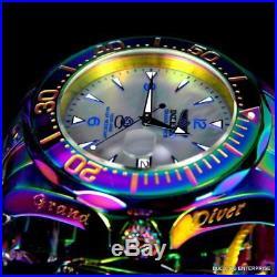 Men's Invicta Grand Diver Platinum MOP Iridescent Steel Automatic 47mm Watch New
