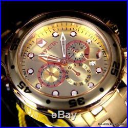 Men's Invicta Pro Diver Scuba 18kt Gold Plated Rose Tone Subdials 48mm Watch New
