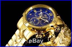 Men's Invicta Reserve Venom Gold IP Swiss Day Retrograde Chrono Blue Dial Watch