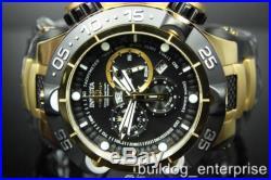 Mens Invicta 12887 Subaqua Noma V Gold Plated Black Chronograph Swiss Watch New