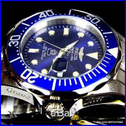 Mens Invicta Grand Diver Automatic NH35A Stainless Steel 47mm Blue Watch New